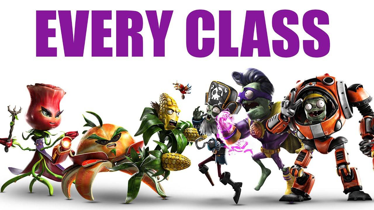 Plants Vs Zombies Garden Warfare 2 All Character Classes