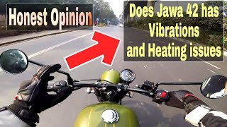 TEST RIDING JAWA 42 in extreme Traffic | Heating issues Vibrations & Top Speed