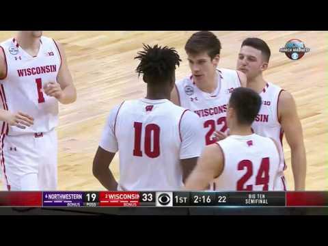 Northwestern vs. Wisconsin - 2017 Big Ten Men's Basketball Tournament