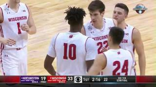 Northwestern vs. Wisconsin - 2017 Big Ten Men's Basketball Tournament