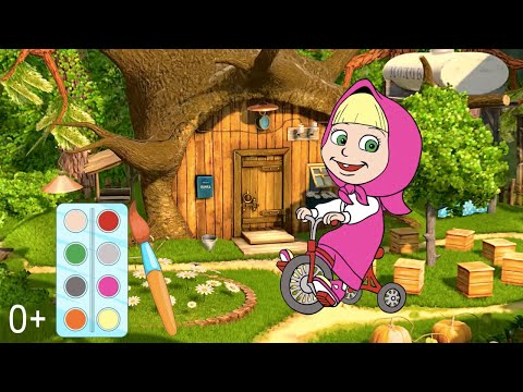 Мультик раскраска. Детские онлайн раскраски из мультфильма Маша и Медведь