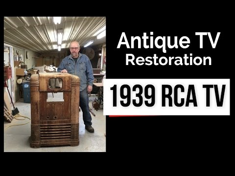 Pre War TV / Radio Restoration -  Antique  RCA KRT 9 Television Fixer Upper