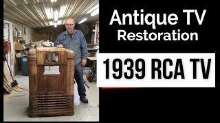 Pre War TV / Radio Restoration - Antique RCA KRT 9 Television Fixer Upper
