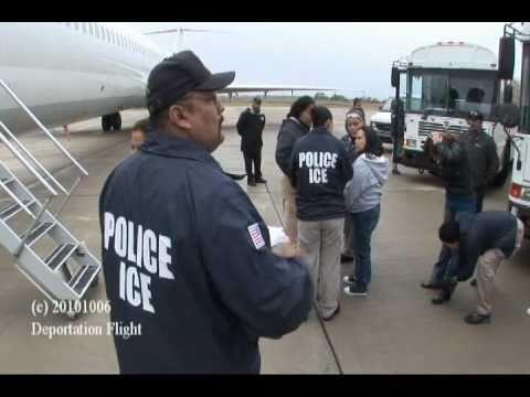 ICE Deportation Flight - YouTube
