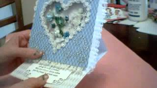 Altered Wooden Heart & Easel Box Card