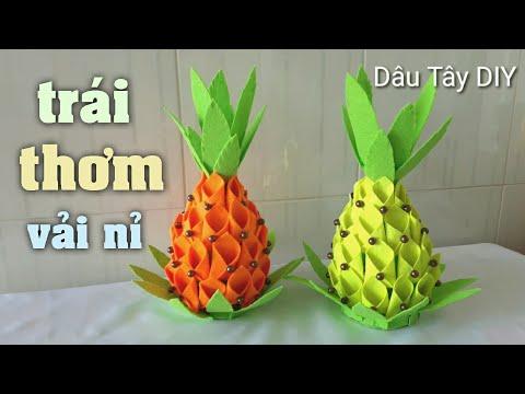 DIY 29   DIY _ Made pineapple   Hướng dẫn làm trái thơm