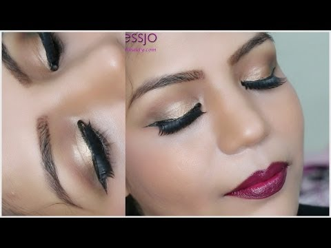 How To do BRIDAL MAKEUP Gold Eye Makeup For Wedding