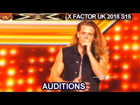 """Giovanni Spano sings 2nd song """"Iris """" MUSCLE GUY Rock 'n' Roll Guy AUDITIONS week 3 X Factor UK 2018"""