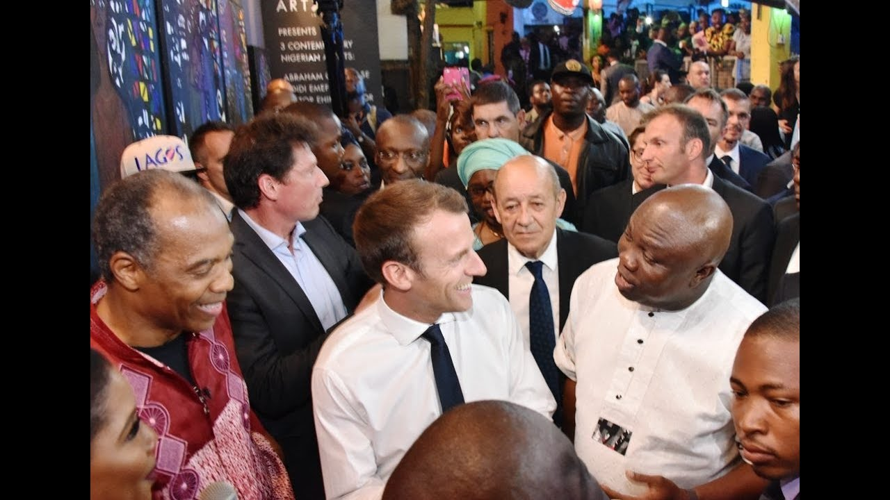 Download Humble! See how France president Shake And Snap Pictures With Lagosians As He Step Out With Ambode
