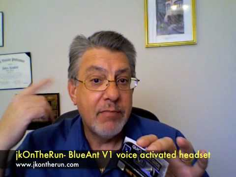 jkOnTheRun- BlueAnt V1 voice activated headset