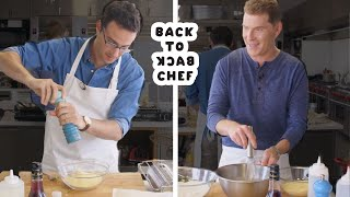 Download Bobby Flay Challenges Amateur Cook to Keep Up with Him | Back-to-Back Chef | Bon Appetit Mp3 and Videos