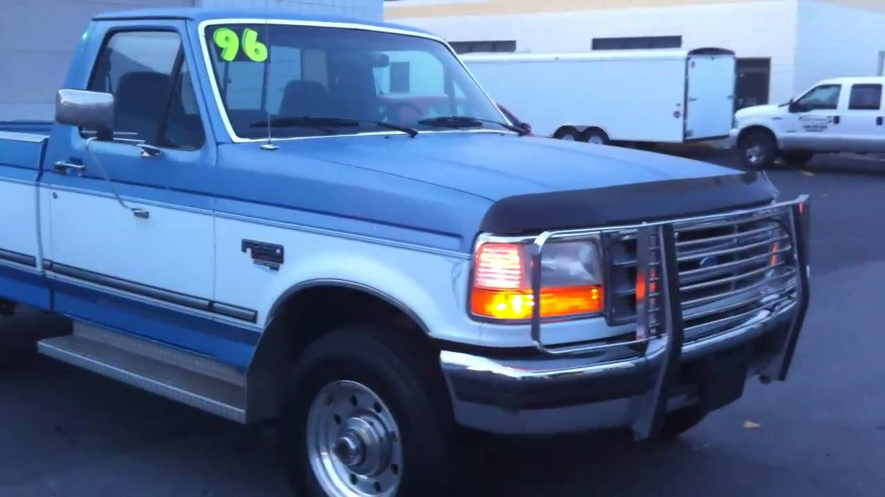 1996 Ford F350 >> 1996 FORD F250 POWERSTROKE DIESEL 4X4 FOR SALE - YouTube
