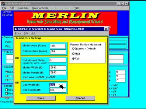 Merlin Reservoir Simulator -  Pattern Models  Part 1