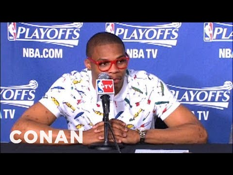 Interesting NBA Fashions At Playoffs Press Conferences  - CONAN on TBS