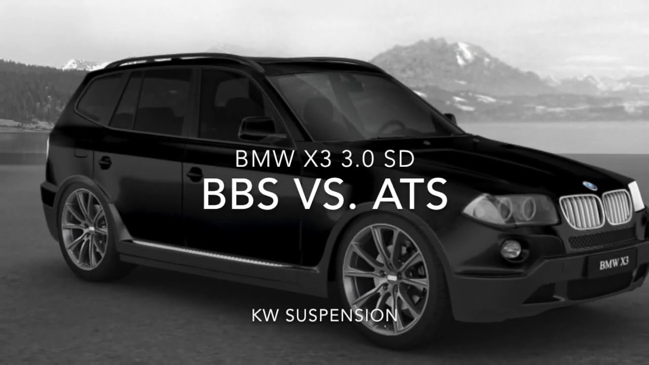 bmw x3 3 0 sd bbs vs ats kw suspension 20 youtube. Black Bedroom Furniture Sets. Home Design Ideas