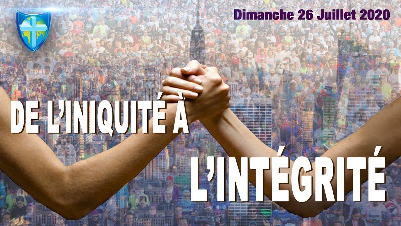 CULTE DU DIMANCHE 26/07/20