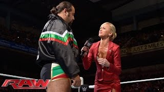 Dolph Ziggler weighs in on Summer Rae's apology to Rusev: Raw, September 7, 2015