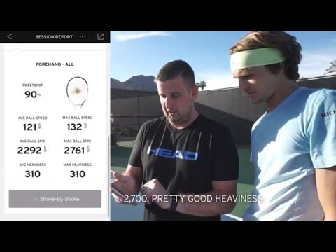 HEAD Tennis Sensor - Playing with the HEAD Tennis Pros