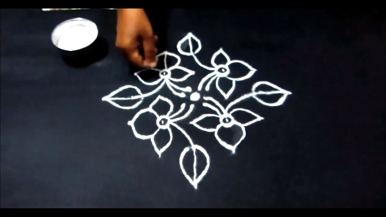 simple dot kolam designs small rangoli with dots