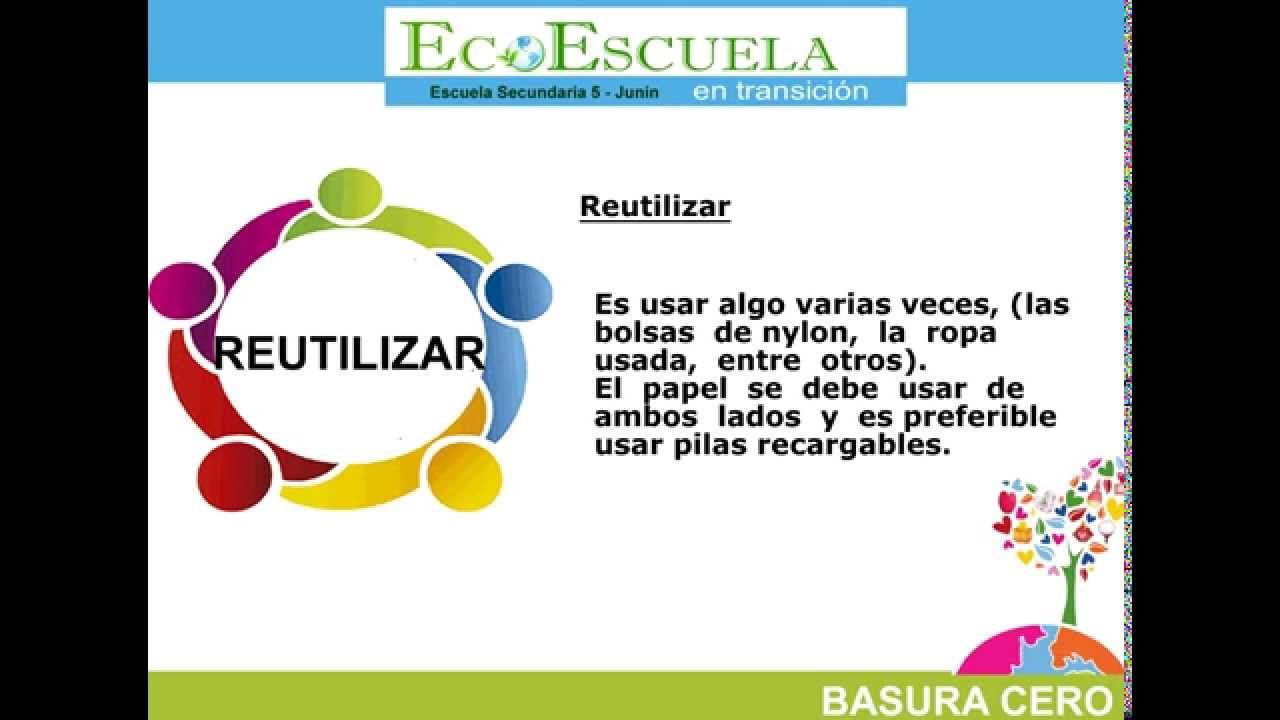 Las cinco R RECICLAR RECHAZAR REDUCIR REPARAR REUTILIZAR