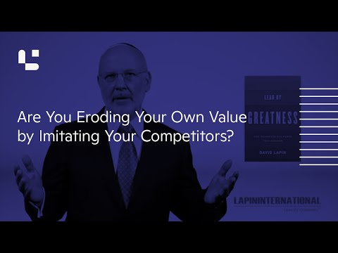 Are You Eroding Your Own Value by Imitating Your Competitors?