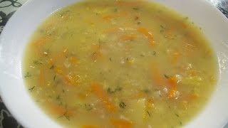 Суп с овсянкой ( постный)
