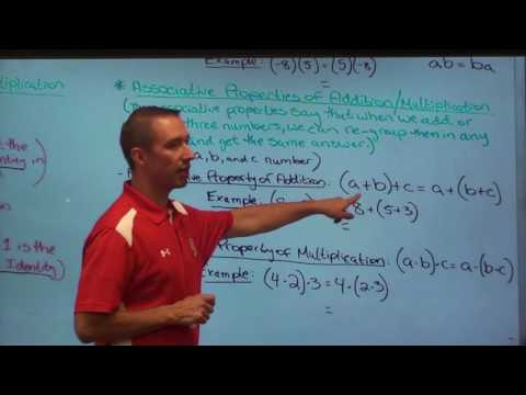Algebra II-Lesson #1-Understanding and Using Properties of Real Numbers to help Simplify Expressions