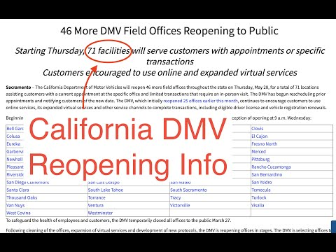 Is The California DMV Open? Are Road Tests Being Scheduled?
