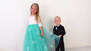 Лера и её красивое платье невесты