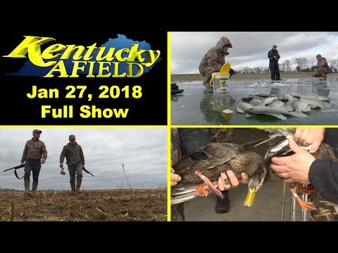 January 27, 2018 Full Show - Ice Fishing, Dove Hunt, Duck Banding