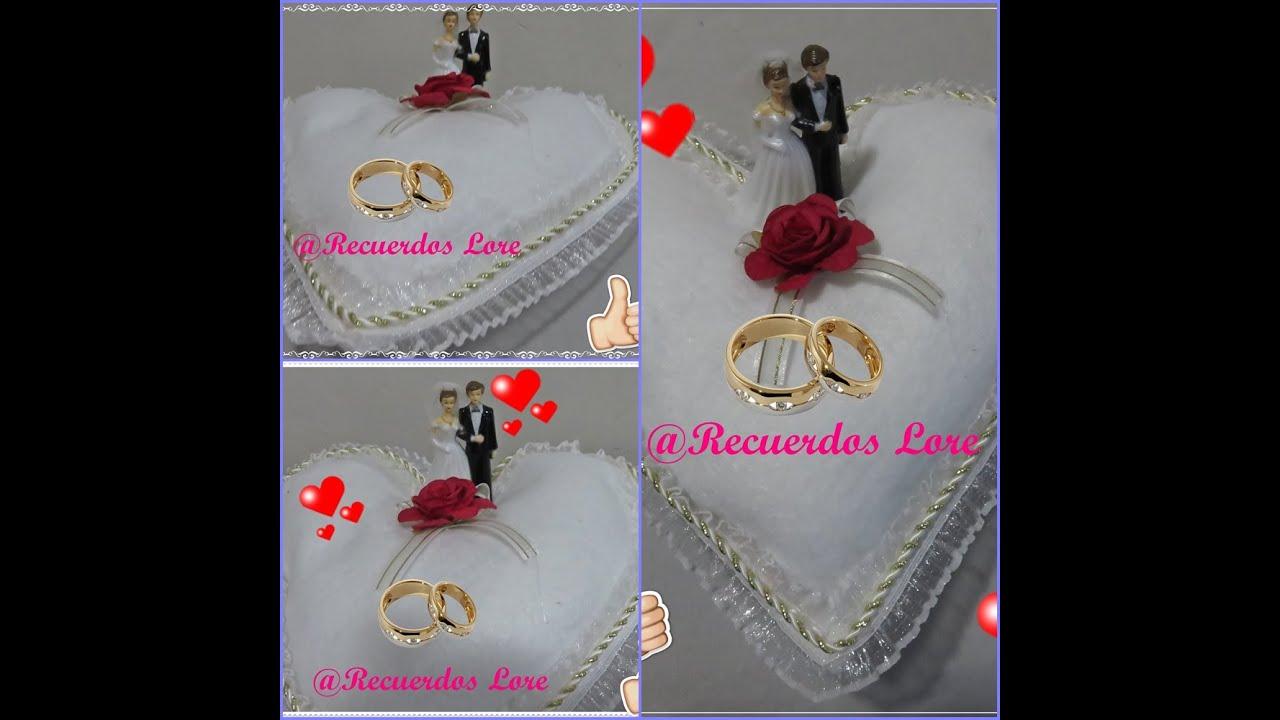 Cojin para anillos de boda super facil y economico youtube - Como hacer cojines decorativos ...