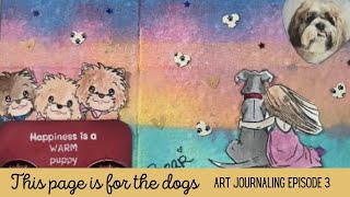 Bear, Lucky and Max/ Art journaling my childhood stories episode #3 \u0026 an $8 card subscription kit