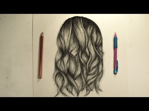 How I draw Hair! (Voice over)