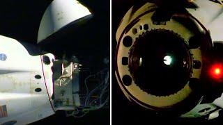 video: Watch: Nasa astronauts leave ISS aboard SpaceX capsule ahead of splashdown