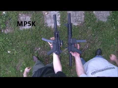MKE MP5k clone vs AR15 9mm pistol SWR tridents