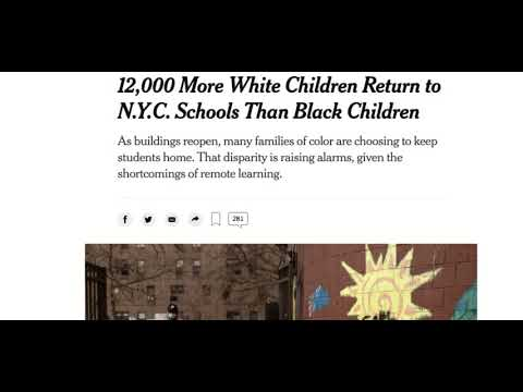 NYC: More White Students Return For In-Person Classes Than Black Students