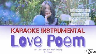 [Karaoke Instrumental] IU - LOVE POEM WITH LYRICS