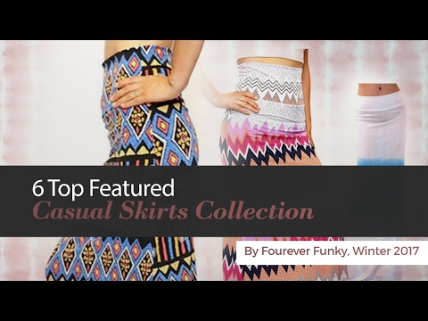 6 Top Featured Casual Skirts Collection By Fourever Funky, Winter 2017