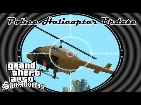 Police Helicopter Update Mod GTA San Andreas - Новая механика поведения полицейских вертолётов