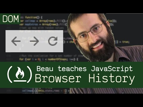 Browser history tutorial - Beau teaches JavaScript