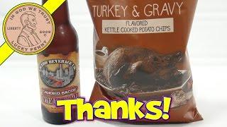 Turkey & Gravy Potato Chips & Candied Bacon Cream Soda