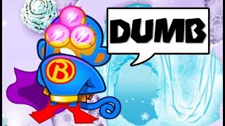 when the DUMBEST strategy goes LATEGAME.... (Bloons TD Battles)