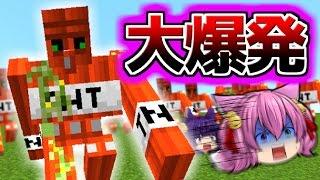 【Minecraft】史上最強のTNTゴーレムvs最強の怪物!?マイクラ世界の…