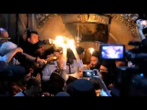 Orthodox Patriarch of Jerusalem receives Holy Fire 2018