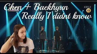 엑소 Chen & Baekhyun - Really I Didn't Know Reaction