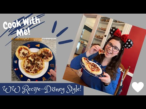 MICKEY MOUSE 2 INGREDIENT DOUGH PIZZA-COOK WITH ME-DISNEY INSPIRED FOODS-WW BLUE PLAN