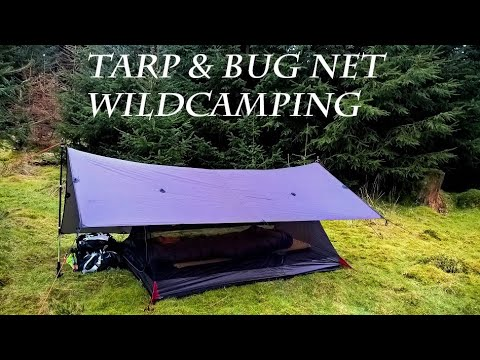 Wild Camping : Woodland Tarp & Bug Net (Re-edited Due To Music Copyright)