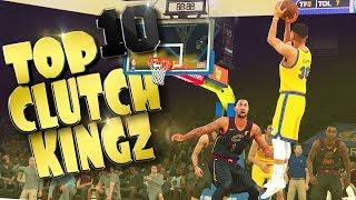 TOP 10 CLUTCH KINGZ - NBA 2K18 Buzzer Beaters & Game Winning Shots thumbnail