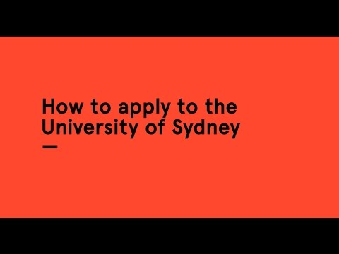 How to apply to the University of Sydney