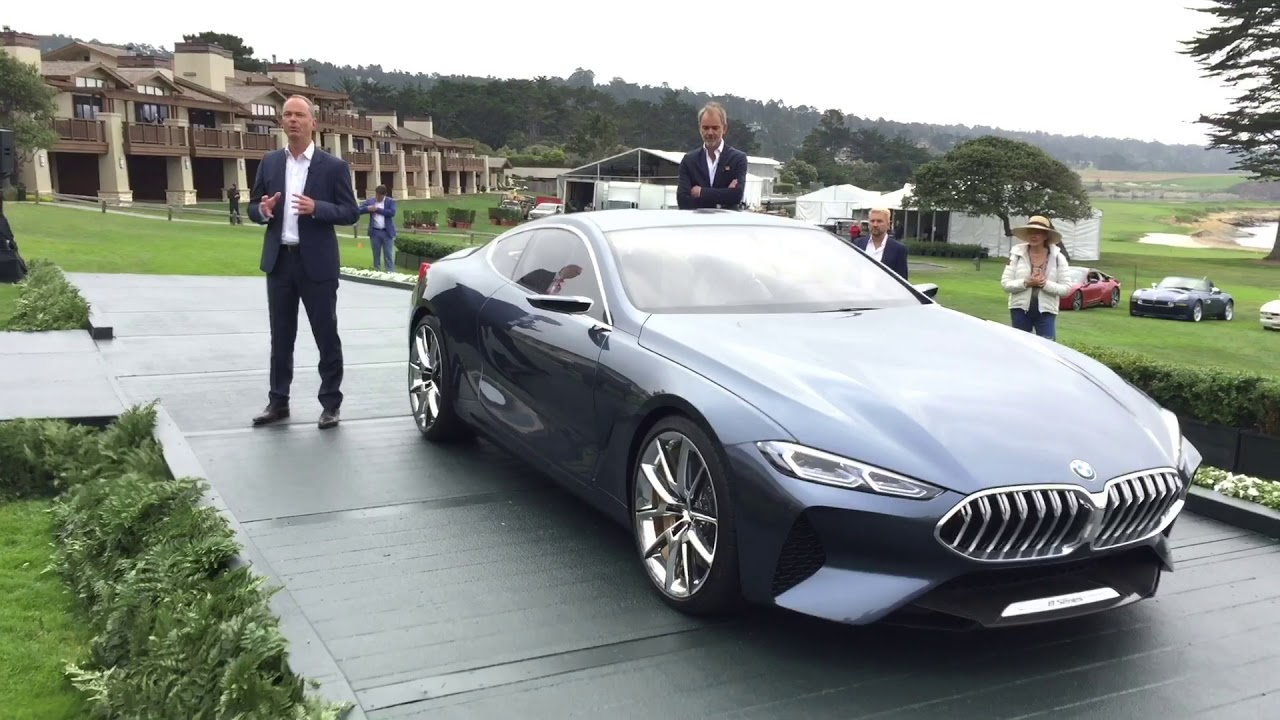 Bernhard Kuhnt, Pres, CEO, BMW NA Pebble Beach Concours d'Elegance unveil  8-series and Z4 concept